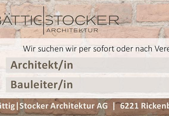 Wir suchen Architekt/in und Bauleiter/in