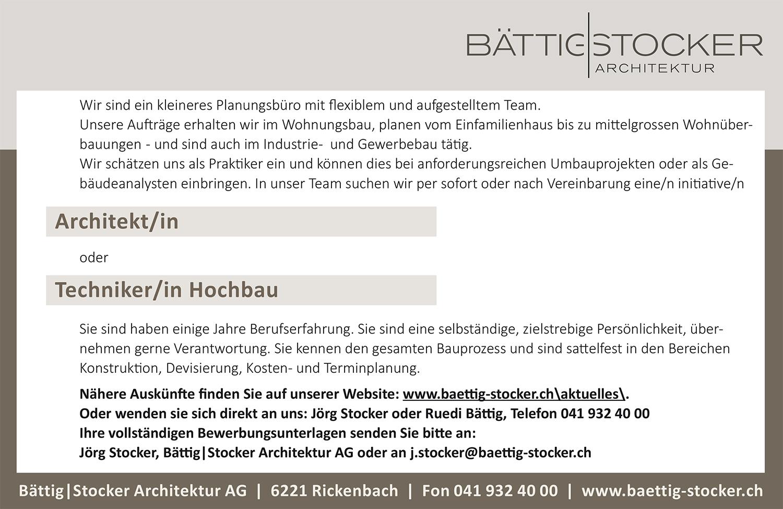 Innenarchitektur Architekt Suchen Referenz Von Stellenbeschrieb Architekt/in Techniker/in Hochbau