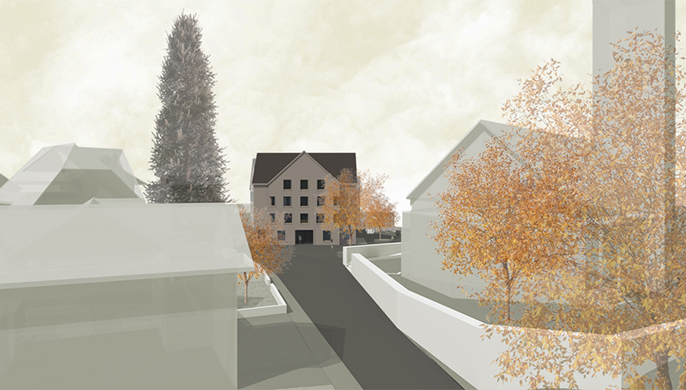 Wettbewerbsprojekt Gemeindehaus/Alterswohnungen in Rickenbach